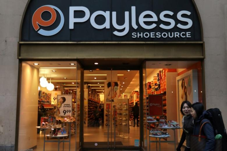 A Payless ShoeSource store is pictured in the Manhattan borough of New York