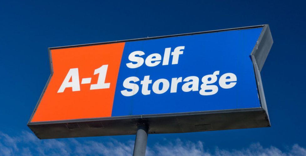 A 1 Self Storage Sign